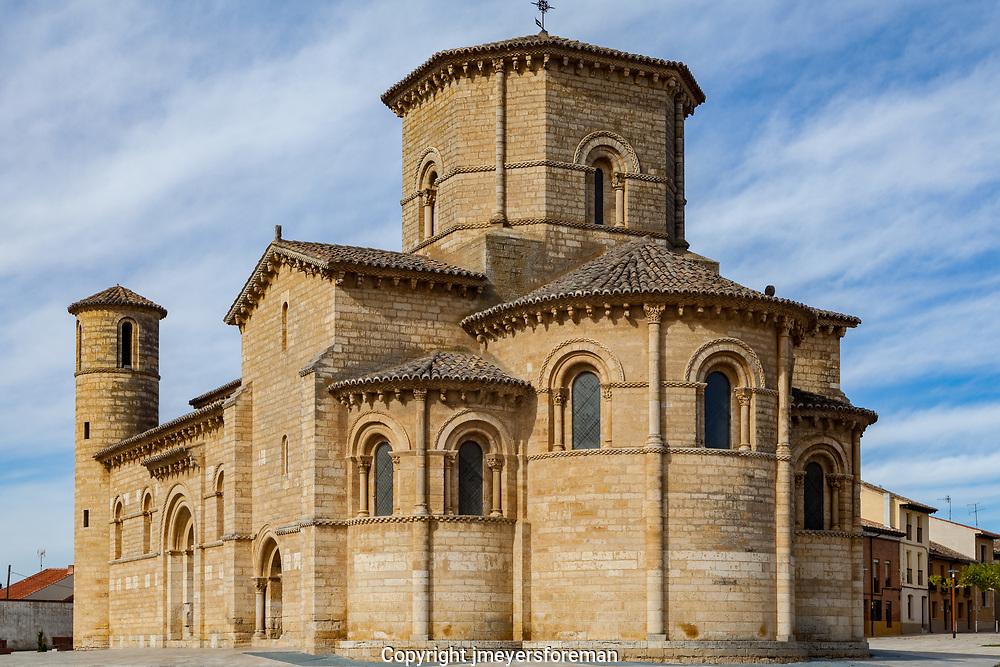 The Historic San Martin de Tours de Fromista, Fromista Spain, a pilgrimage church along the Camino de Santiago Compostela