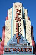 Edwards Big Newport 6 Theater Sign in Newport Beach California
