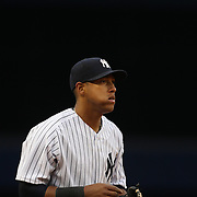 Yangervis Solarte, New York Yankees, during the New York Yankees V Baltimore Orioles home opening day at Yankee Stadium, The Bronx, New York. 7th April 2014. Photo Tim Clayton