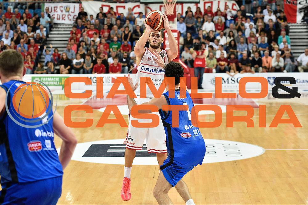 Ceron Marco<br /> Consultinvest Pesaro - Germani Basket Brescia<br /> BASKET Serie A 2016 <br /> Pesaro 02/10/2016 <br /> FOTO CIAMILLO