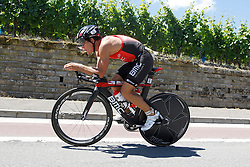 21.06.2014, Remich, LUX, Ergo Ironman 70.3, im Bild Der Franzose Romain Guillame auf der Radstrecke // during the Ergo Ironman 70.3 in Remich, Luxembourg on 2014/06/21. EXPA Pictures © 2014, PhotoCredit: EXPA/ Eibner-Pressefoto/ Schueler<br /> <br /> *****ATTENTION - OUT of GER*****