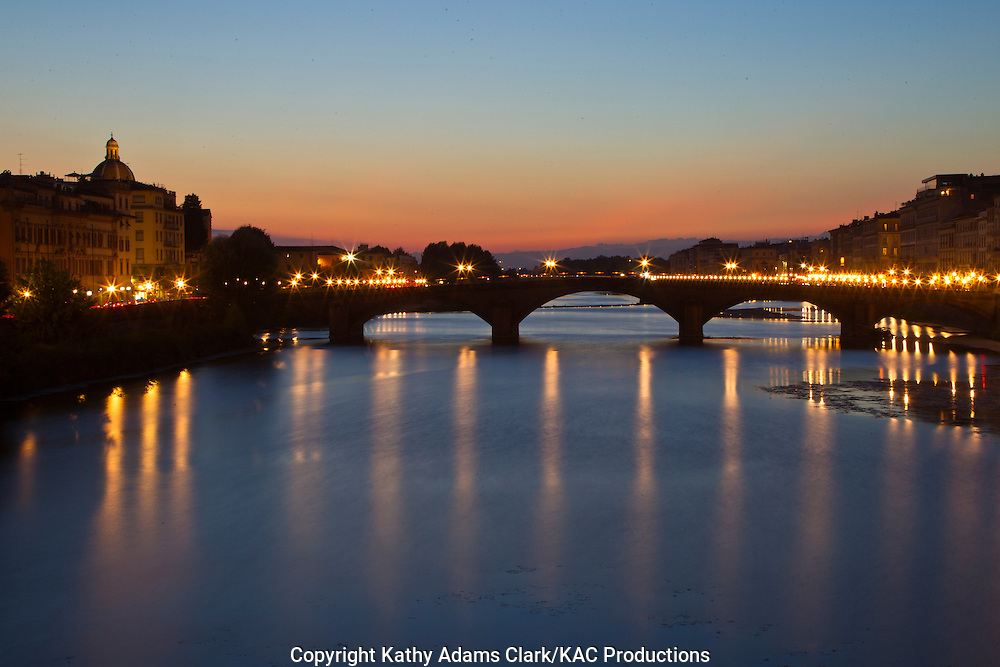 The Arno River, and the Ponte alla Carraia, Florence, Italy, Fiume Arno, Firenze