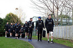 The Bath Rugby team arrive at the Kingspan Stadium - Mandatory byline: Patrick Khachfe/JMP - 07966 386802 - 18/01/2020 - RUGBY UNION - Kingspan Stadium - Belfast, Northern Ireland - Ulster Rugby v Bath Rugby - Heineken Champions Cup