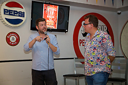 LOS ANGELES, USA - Tuesday, July 26, 2016: Paul Machin of Redmen TV during an Anfield Wrap live podcast on day six of Liverpool FC's USA Pre-season Tour. (Pic by David Rawcliffe/Propaganda)