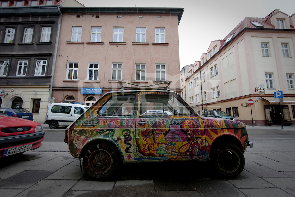 The mighty polish Fiat 126 P in Krakow, Poland..Wednesday 05 May 2010.Photograph Richard Robinson © 2010.