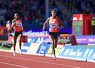 Sifan Hassan NED competing in the 1500m during the IAAF  Diamond League Sainsbury's Birmingham Grand Prix at Alexander Stadium, Birmingham<br /> Picture by Alan Stanford/Focus Images Ltd +44 7915 056117<br /> 07/06/2015