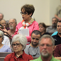 "Patti Parks, of Belden, makes comments to the Lee County Board of Supervisors and to Lee County Sheriff Jim Johnson, that she believes the plan for the build and its cost to be ""extravagant"" but is in favor of a new jail."