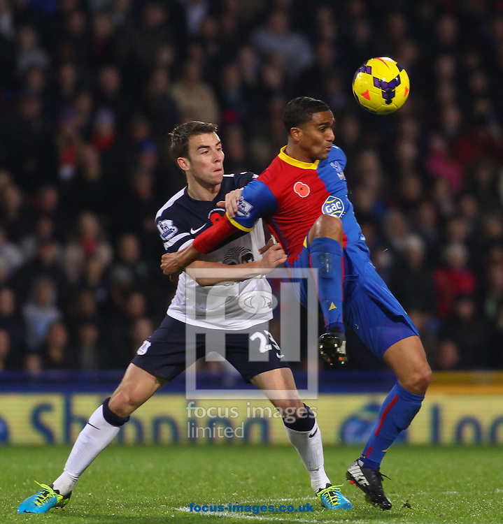 Picture by David Horn/Focus Images Ltd +44 7545 970036<br /> 09/11/2013<br /> Jerome Thomas of Crystal Palace (right) and Seamus Coleman of Everton (left) during the Barclays Premier League match at Selhurst Park, London.