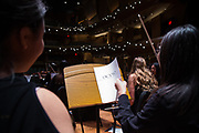 Dress rehearsal for a joint performance of the Orange County Youth Symphonic Orchestra and Beckman High School String Orchestra at Chapman University's Julianne Argyros Orchestra Hall on Sunday, May 14, 2017 in Orange, Calif. (Photo by Josh Barber, Orange County Register Contributing Photographer)