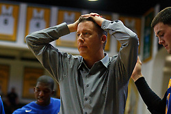 Nov 16, 2011; San Francisco CA, USA;  San Jose State Spartans head coach George Nessman on the sidelines against the San Francisco Dons during the first half at War Memorial Gym.  San Francisco defeated San Jose State 83-81 in overtime. Mandatory Credit: Jason O. Watson-US PRESSWIRE
