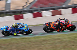 May 22, 2018 - Barcelona, Catalonia, Spain - Bradley Smith (KTM) and Andrea Iannone (Suzuki) during the Moto GP test in the Barcelona Catalunya Circuit, on 22th May 2018 in Barcelona, Spain. (Credit Image: © Joan Valls/NurPhoto via ZUMA Press)