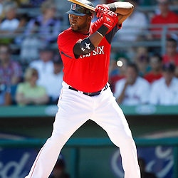 February 28, 2011; Fort Myers, FL, USA; Boston Red Sox first baseman David Ortiz (34) during a spring training exhibition game against the Minnesota Twins at City of Palms Park.  Mandatory Credit: Derick E. Hingle