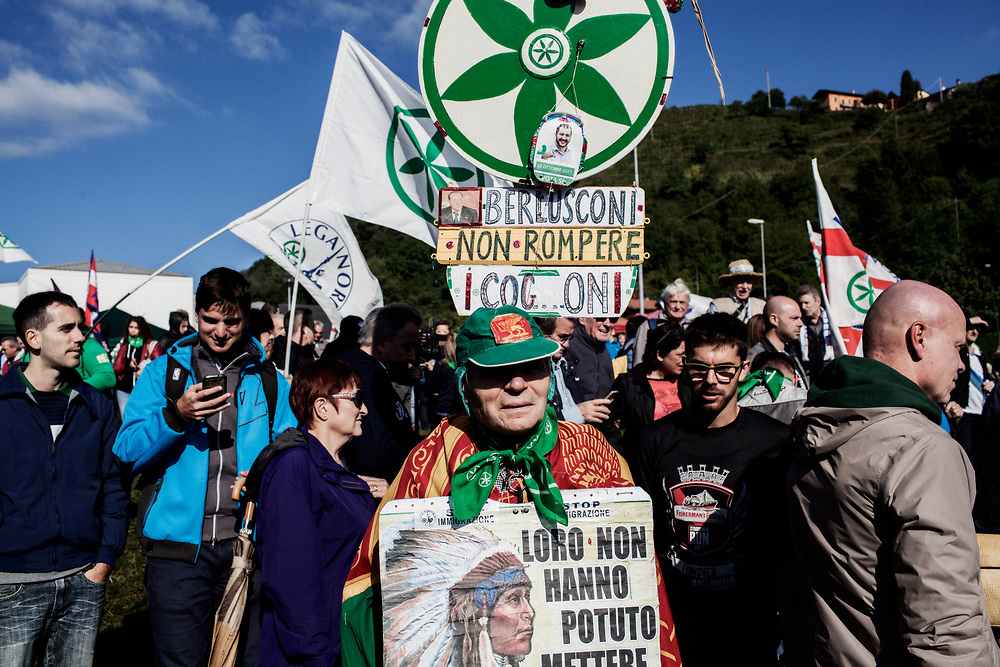 Pontida 2017. Matteo's guys and gals.<br /> Also Lega Nord is growing old.