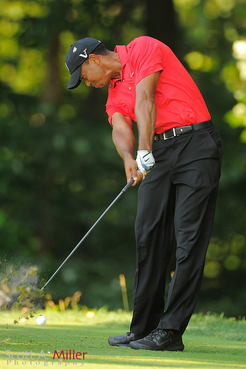 Tiger Woods during the final round of the AT&T National at Congressional Country Club on July 1, 2012 in Bethesda, Maryland. ..©2012 Scott A. Miller