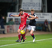 Aberdeen&rsquo;s Andrew Considine and Dundee&rsquo;s Mark O&rsquo;Hara - Dundee v Aberdeen in the Ladbrokes Scottish Premiership at Dens Park, Dundee. Photo: David Young<br /> <br />  - &copy; David Young - www.davidyoungphoto.co.uk - email: davidyoungphoto@gmail.com