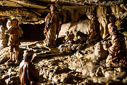 Living Nativity Scenes inside Postojna Cave, on December 21, 2017 in Postojna, Slovenia. Living Nativity Scene is staged along a 5 km long path through the world-famous Postojna Cave in Slovenia with some 200 people performing and working. Photo by Vid Ponikvar / Sportida