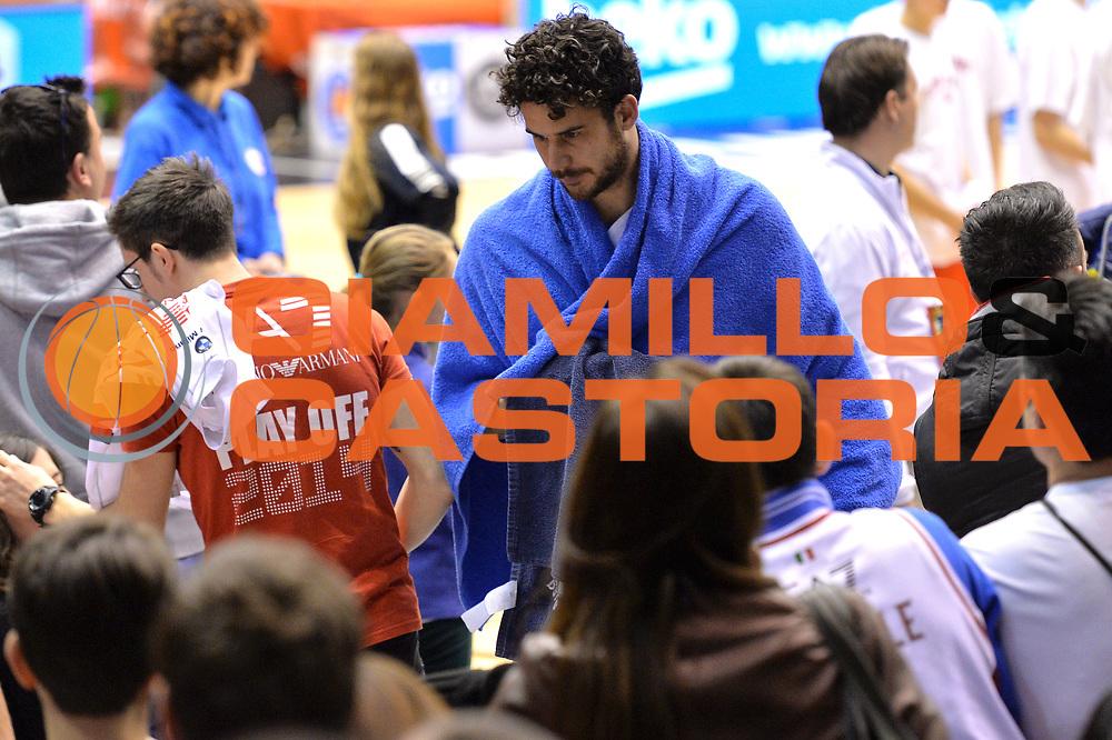 DESCRIZIONE : Milano Lega A 2014-15  EA7 Emporio Armani Milano vs Vagoli Basket Cremona<br /> GIOCATORE : Vitali Luca<br /> CATEGORIA : Delusione<br /> SQUADRA : Vagoli Basket Cremona<br /> EVENTO : Campionato Lega A 2014-2015<br /> GARA : EA7 Emporio Armani Milano vs Vagoli Basket Cremona<br /> DATA : 25/01/2015<br /> SPORT : Pallacanestro <br /> AUTORE : Agenzia Ciamillo-Castoria/I.Mancini<br /> Galleria : Lega Basket A 2014-2015  <br /> Fotonotizia : Cant&ugrave; Lega A 2014-2015 Pallacanestro : EA7 Emporio Armani Milano vs Vagoli Basket Cremona<br /> Predefinita :