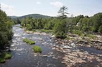 Connecticut River below hydro dam at West Stewartstown, NH