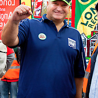 Bob Crow in London<br /> 20th October 2012<br /> <br /> Photograph by Roslyn Gaunt/Writer Pictures<br /> <br /> WORLD RIGHTS