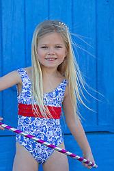 Young Girl Playing Hula Hoop