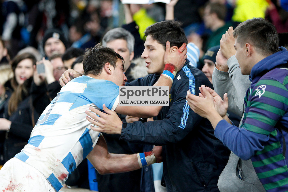 TWICKENHAM, ENGLAND - OCTOBER 25: F Isan of Argentina after the 2015 Rugby World Cup semi-final two match between Argentina and Australia at Twickenham Stadium, London on October 25, 2015 in London, England. (Credit: SAM TODD | SportPix.org.uk)