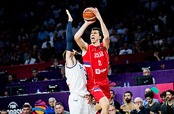 Luigi Datome of Italy vs Vladimir Lucic of Serbia during basketball match between National Teams of Italy and Serbia at Day 14 in Round of 16 of the FIBA EuroBasket 2017 at Sinan Erdem Dome in Istanbul, Turkey on September 13, 2017. Photo by Vid Ponikvar / Sportida