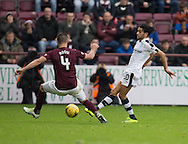 Dundee&rsquo;s Faissal El Bakhtaoui and Hearts&rsquo; Igor Rossi - Hearts v Dundee, Ladbrokes Scottish Premiership at Tynecastle, Edinburgh. Photo: David Young<br /> <br />  - &copy; David Young - www.davidyoungphoto.co.uk - email: davidyoungphoto@gmail.com