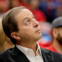 May 4, 2018; New Orleans, LA, USA; Golden State Warriors majority owner Joe Lacob watches courtside during the third quarter in game three of the second round of the 2018 NBA Playoffs at Smoothie King Center. The Pelicans defeated the Warriors 119-100. Mandatory Credit: Derick E. Hingle-USA TODAY Sports