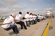Fund raising airplane pull as part of a charity event, 2007