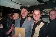 CHRIS SULLIVAN; GRAHAM SMITH, Publication party for We Can Be Heroes, Graham Smith and Chris Sullivan's photo history of London Clubland from 1976-1984,  St Moritz, Wardour St. Soho,London. 20 November 2012.