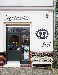 Exterior of Zauberschon Kosmetik ( Zaubershön) Cosmetic shop and spa in Prenzlauer Berg, Berlin, Germany