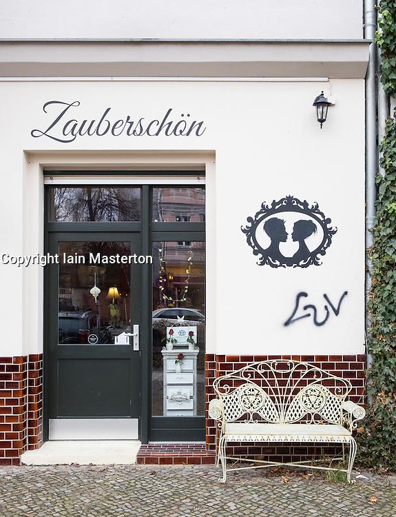 Exterior of Zauberschon Kosmetik ( Zaubershön) Cosmetic shop and spa in Prenzlauer Berg, Berlin, Germany