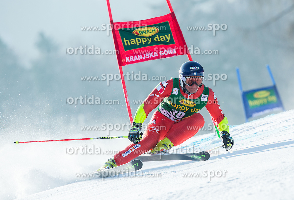 BLARDONE Massimiliano of Italy competes in 1st Run during Men Giant Slalom race of FIS Alpine Ski World Cup 54th Vitranc Cup 2015, on March 14, 2015 in Kranjska Gora, Slovenia. Photo by Vid Ponikvar / Sportida