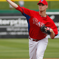 March 1, 2011; Clearwater, FL, USA; Philadelphia Phillies starting pitcher Kyle Kendrick (38) during a spring training exhibition game against the Detroit Tigers at Bright House Networks Field  Mandatory Credit: Derick E. Hingle