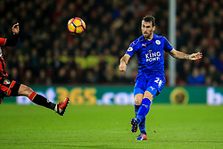 Christian Fuchs of Leicester City crosses the ball - Mandatory by-line: Jason Brown/JMP - 13/12/2016 - FOOTBALL - Vitality Stadium - London, England - AFC Bournemouth v Leicester City - Premier League
