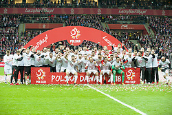 October 8, 2017 - Warsaw, Poland - The Polish players celebrate after the FIFA World Cup 2018 Qualifying Round Group E match between Poland and Montenegro at National Stadium in Warsaw, Poland on October 8, 2017  (Credit Image: © Andrew Surma/NurPhoto via ZUMA Press)