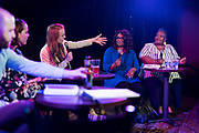 "Lisa Speckhard-Pasque introduces Ald. Sheri Carter and Progress Center for Black Women founder Sabrina Madison during the live taping of the ""Madsplainers"" Podcast at High Noon Saloon in Madison, WI on Tuesday, April 9, 2019."
