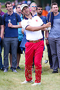 Spanish golf professional Jorge Campillo is unlucky with his intended chip shot during the BMW PGA Championship at the Wentworth Club, Virginia Water, United Kingdom on 28 May 2016. Photo by Simon Davies.