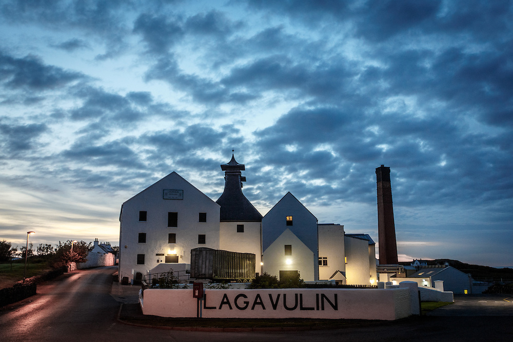 Lagavulin Distillery at dawn at Port Ellen, Isle of Islay, Scotland, July 14, 2015. Gary He/DRAMBOX MEDIA LIBRARY