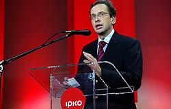 PRISTINA, KOSOVO - DECEMBER 14 - Dr. Ziga Turk, minister brez listnice, govornik na gala otvoritvi  delovanja drugega mobilnega operaterja IPKO, ki je v 67% lasti Telekoma Slovenije.