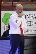 DESCRIZIONE : Campionato 2014/15 Giorgio Tesi Group Pistoia - Grissin Bon Reggio Emilia<br /> GIOCATORE : Menetti Massimiliano<br /> CATEGORIA : Allenatore Coach Mani<br /> SQUADRA : Grissin Bon Reggio Emilia<br /> EVENTO : LegaBasket Serie A Beko 2014/2015<br /> GARA : Giorgio Tesi Group Pistoia - Grissin Bon Reggio Emilia<br /> DATA : 19/04/2015<br /> SPORT : Pallacanestro <br /> AUTORE : Agenzia Ciamillo-Castoria/S.D'Errico<br /> Galleria : LegaBasket Serie A Beko 2014/2015<br /> Fotonotizia : Campionato 2014/15 Giorgio Tesi Group Pistoia - Grissin Bon Reggio Emilia<br /> Predefinita :