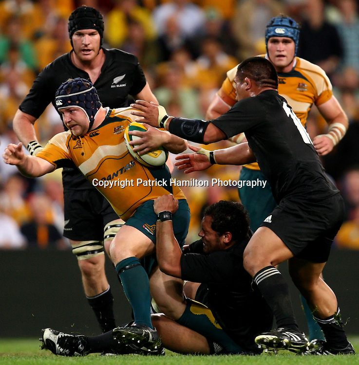 Ben Robinson.All Blacks v Australia Tri Nations Rugby Union Test Match. Suncorp Stadium ,Brisbane. Australia,Saturday 13 September 2008 . Photo: PHOTOSPORT