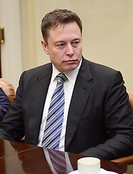 January 23, 2017 - Washington, District of Columbia, United States of America - Elon Musk of Space X listens as United States President Donald Trump makes remarks during a breakfast and listening session with key business leaders in the Roosevelt Room of the White House in Washington, DC on Monday, January 23, 2017..Credit: Ron Sachs / Pool via CNP (Credit Image: © Ron Sachs/CNP via ZUMA Wire)