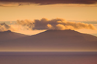 SCOTLAND - CIRCA APRIL 2016: View of North Uist at sunset from the Neist Point Lighthouse in Skye an Island in Scotland