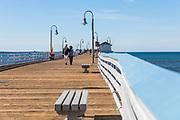 Couple Walking on San Clemente Pier