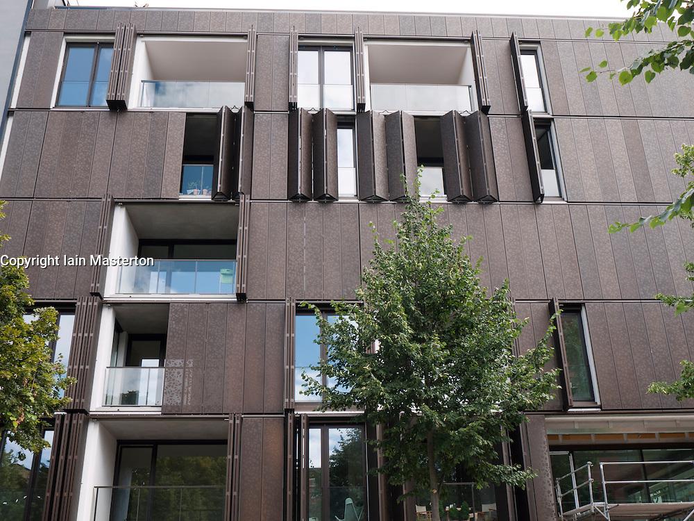 New luxury apartment buildings  at Marthashof in bohemian Prenzlauer Berg in Berlin Germany