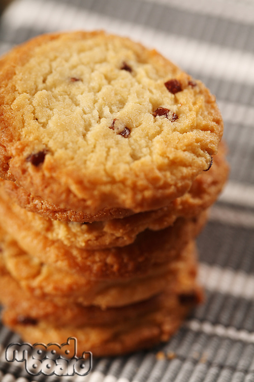 Cookies on cloth - close -up