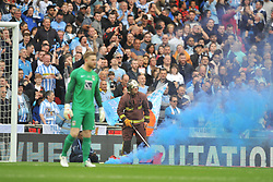 COVENTRY CITY  FANS LET OF FLARES, Coventry City v Oxford United, EFL Checkatrade Trophy Final, Wembley Stadium Sunday 2nd April 2017, <br /> Score Coventry 2-1 Oxford<br /> PhotoMike Capps
