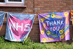 Support signs in residential area of Norwich during Coronavirus lockdown, UK April 2020