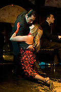 Tango dancers at Cafe Tortoni, Buenos Aires, Argentina
